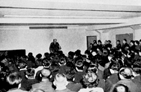 Saneatsu Mushanokoji giving a Saturday Lecture (1952)