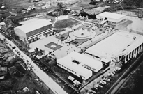 A panoramic view of the Ishibashi Cultural Center (April 26, 1956)